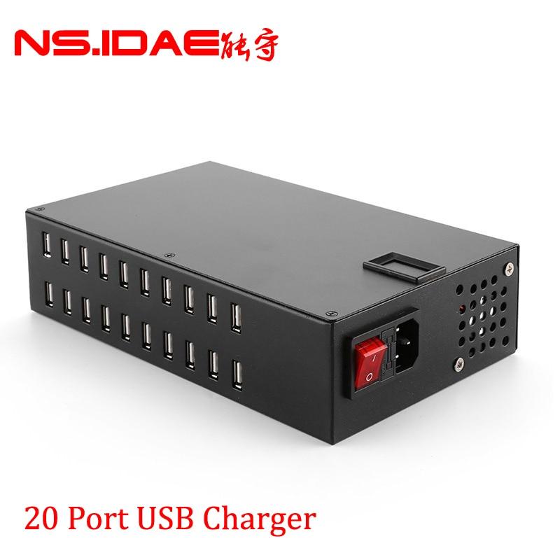 شاحن حائط USB ، 20 منفذ ، 200 واط ، محطة شحن سريعة ، لأجهزة Apple iPhone ، iPad ، Samsung ، Huawei ، طاولة الهاتف الذكي