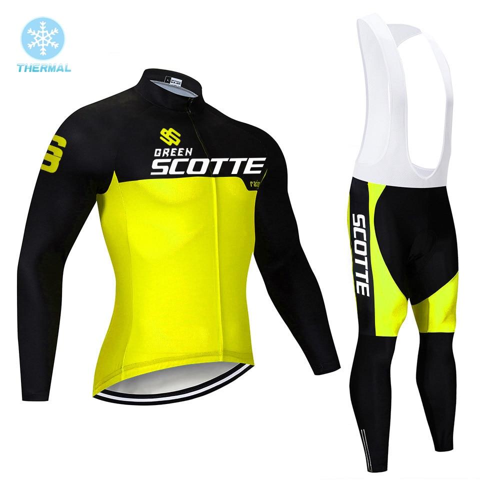 Ropa térmica de lana verde para Ciclismo, Maillot deportivo para bicicleta de...