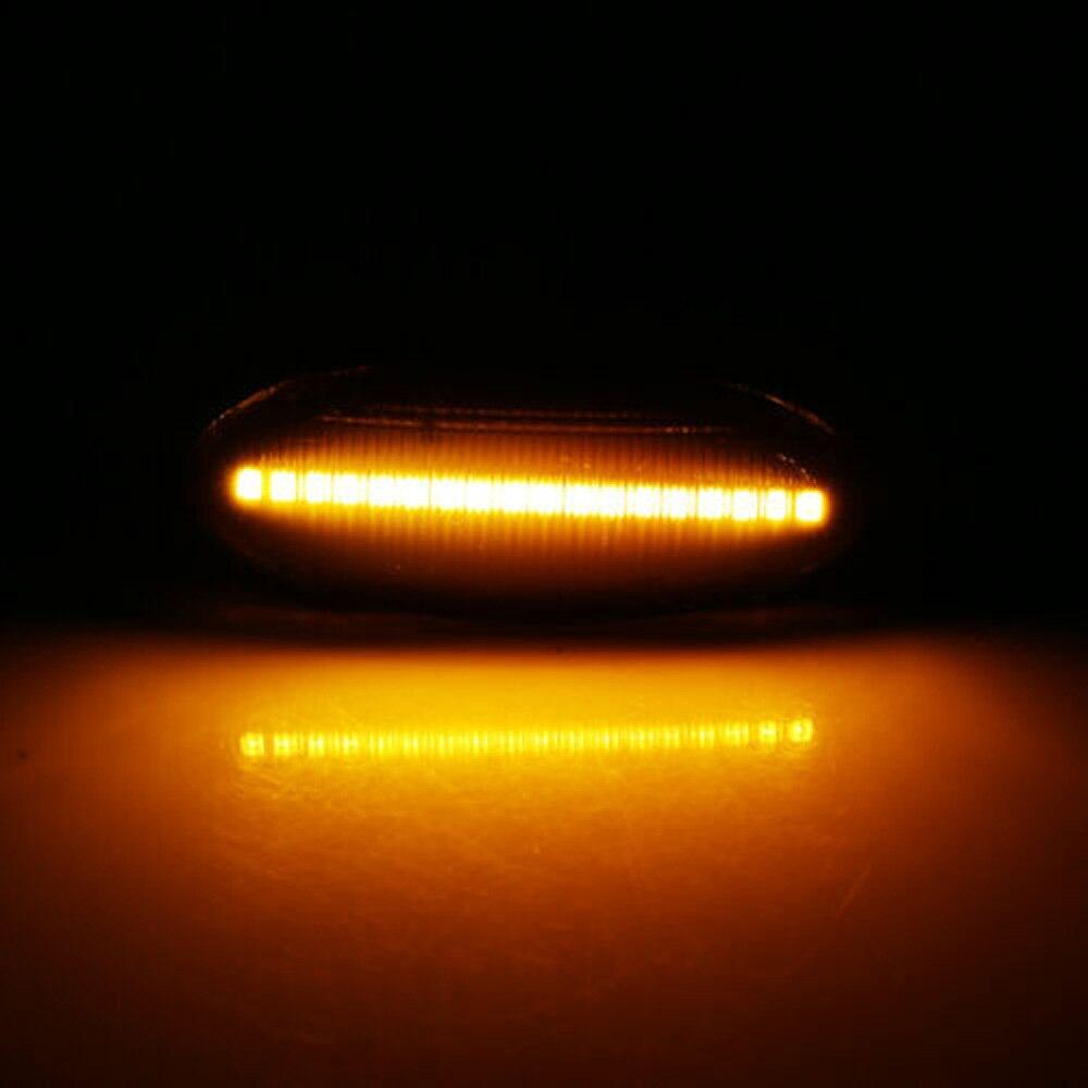 Novo e de alta qualidade 2x fumaça âmbar led lado marcador luz sinal para nissan qashqai juke cubo folha jo