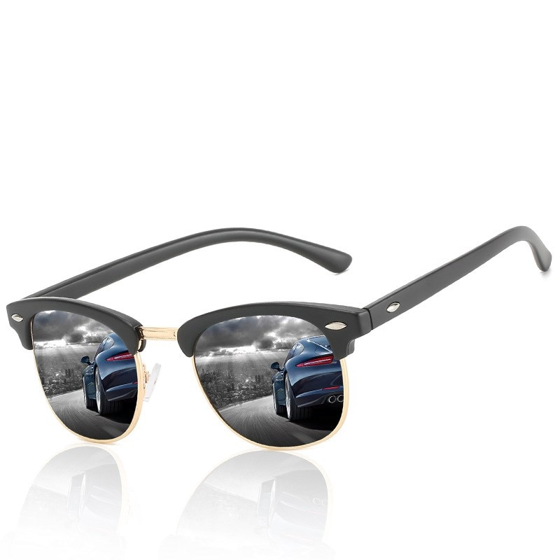 2021 Brand Design Men Round Polarized Sunglasses Classic Luxury Women Sun Glasses Vintage Metal Spor