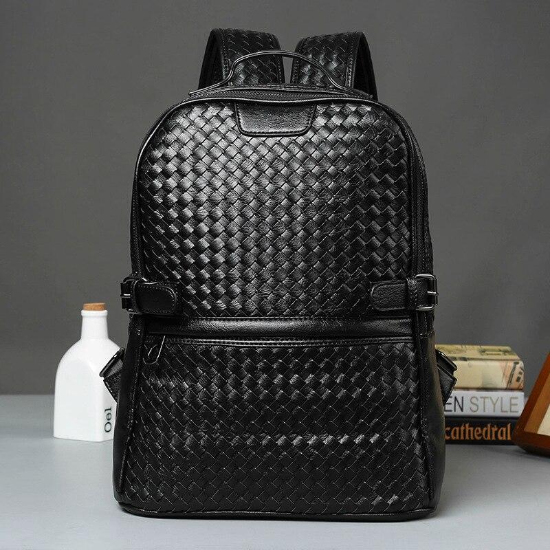 2021 брендовый дизайнерский рюкзак для мужчин, новый модный тканый кожаный рюкзак, деловой рюкзак, роскошные рюкзаки, мужская дорожная сумка ...