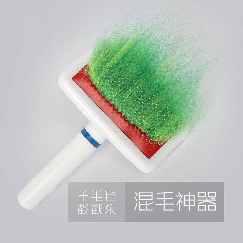 Lãs feitas à mão sentiu a escova misturada da cor, acessórios da ferramenta de diy misturou o artefato de lã da escova da cor
