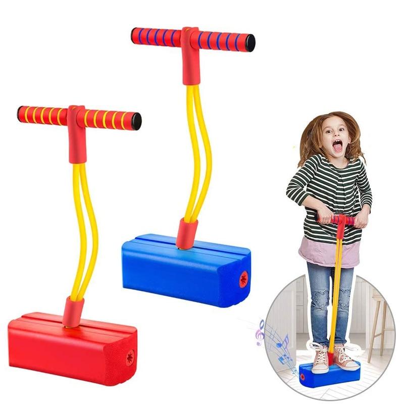 Pogo Stick Jumper For Kids Indoor Outdoor Fun Sports Fitness Toddler Boys Girls Children Games Sensory Toys Equipment Kids Toys