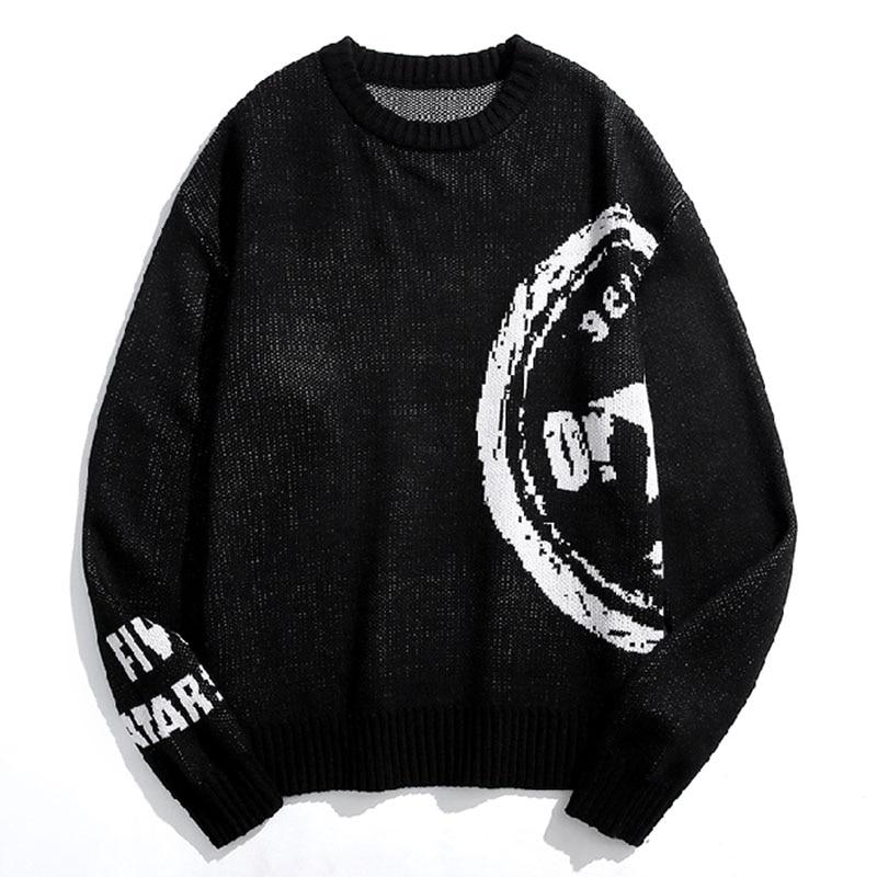 Мужской пуловер, мужские свитеры, Мужская одежда, свитер с узором для мужчин, черный свитер, мужской комфорт, Повседневная Новая мода 2021