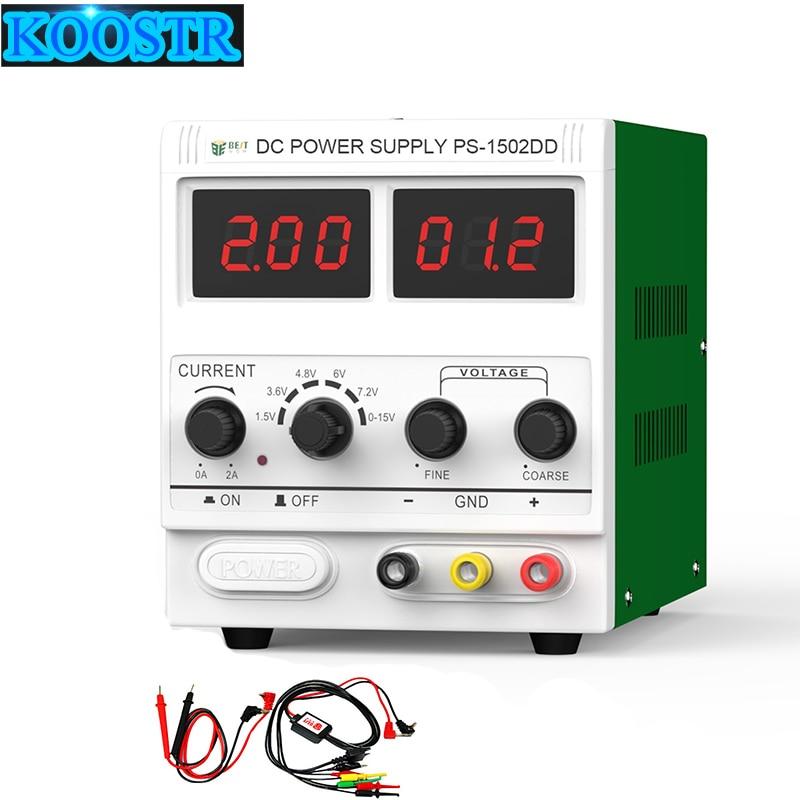 Высокоточный BEST-1502DD мобильный телефон ремонт выделенный источник питания Регулируемый источник питания регулятор напряжения регулируемое питание