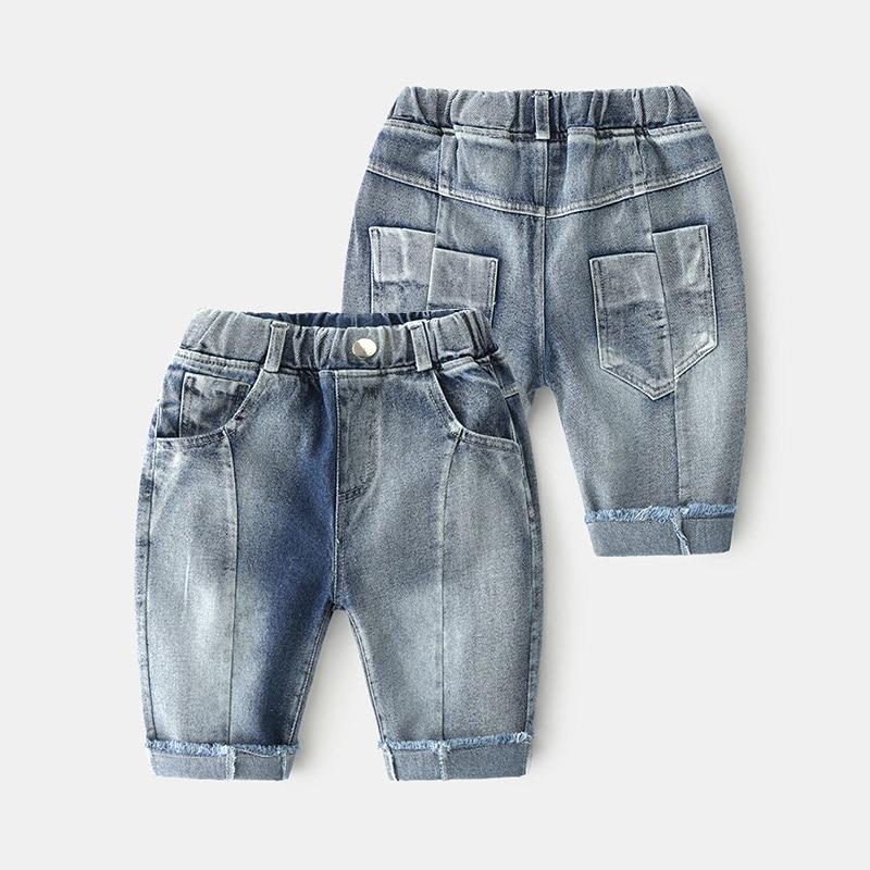 Baby Jeans 2021 Summer New Boy Children's Clothing Children's Pants Five-point Pants