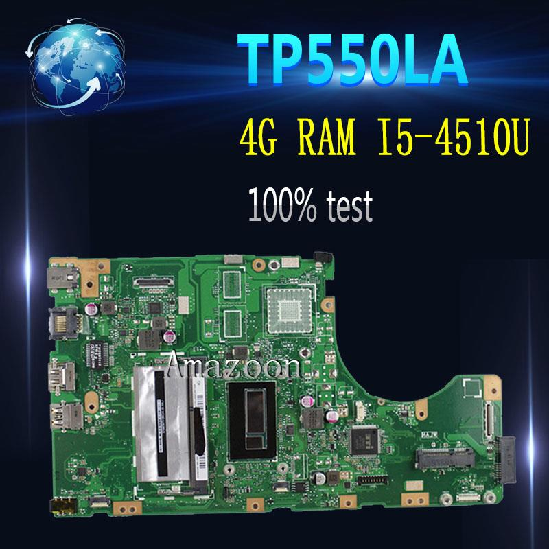 Placa base Amazoon TP550LA para ordenador portátil For Asus TP550LA TP550LN TP550LD TP550L TP550 placa base original 4G RAM I7-4510U