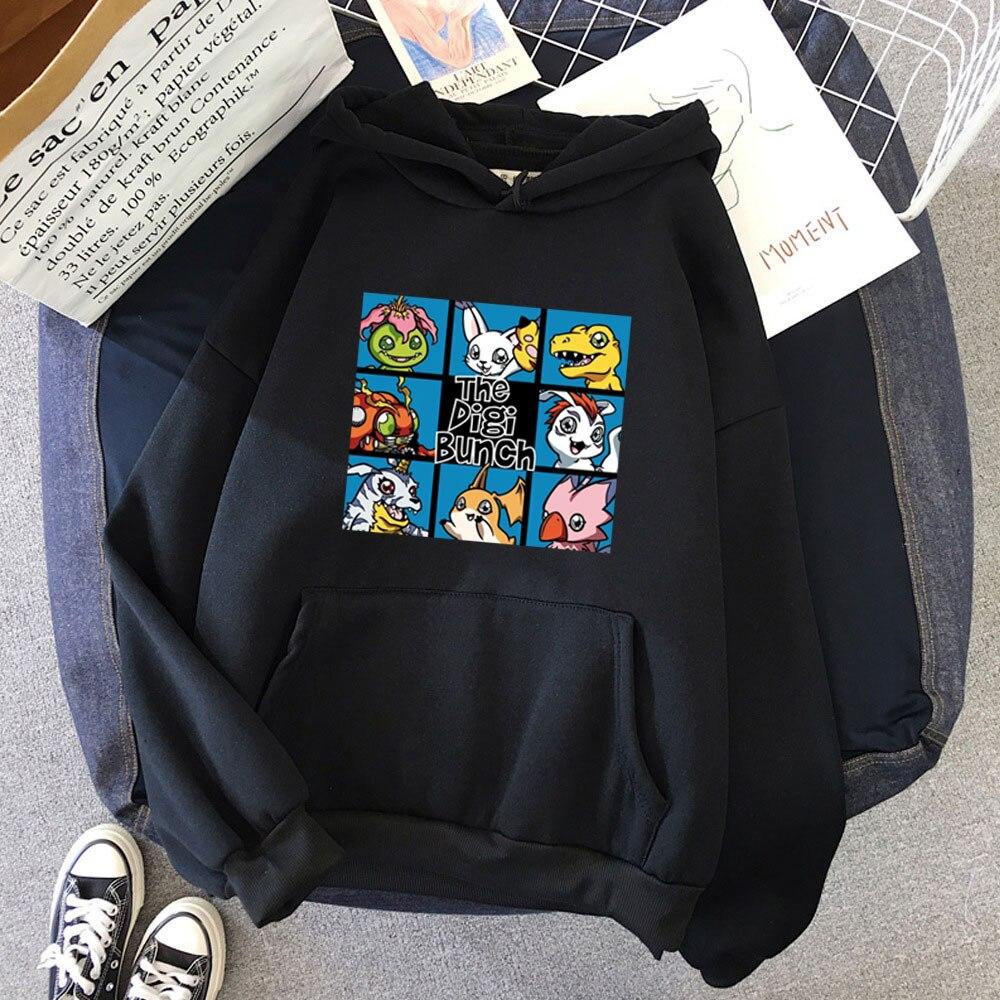 2021 японская аниме Digimon одежда Moletom Masculino толстовки женские брендовые толстовки уличная одежда Харадзюку хип-хоп пуловер Топы