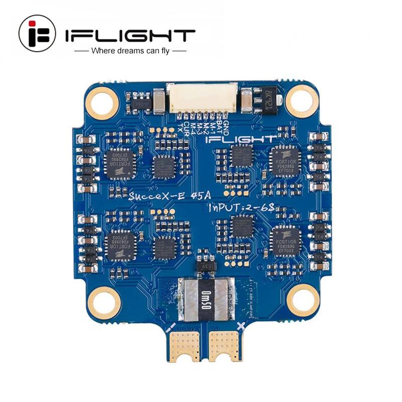 IFlight 40*43mm succex-e 45A 2-6S BLHeli_S 4-en-1 ESC soporte DShot DShot150/300/600/MultiShot/ OneShot para Dron FPV