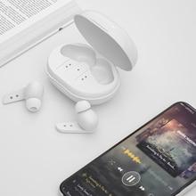 TWS Wireless Headphones IPX7 Waterproof Stereo Earbuds Sports Stereo Noise Cancelling Headphones Blu