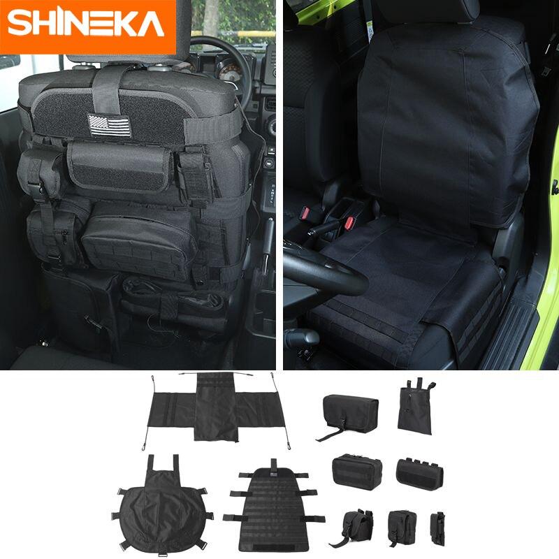 SHINEKA, remolque para Suzuki Jimny, organizador de asiento de coche multifunción, accesorios de bolsa de almacenamiento para Suzuki Jimny 2019 +
