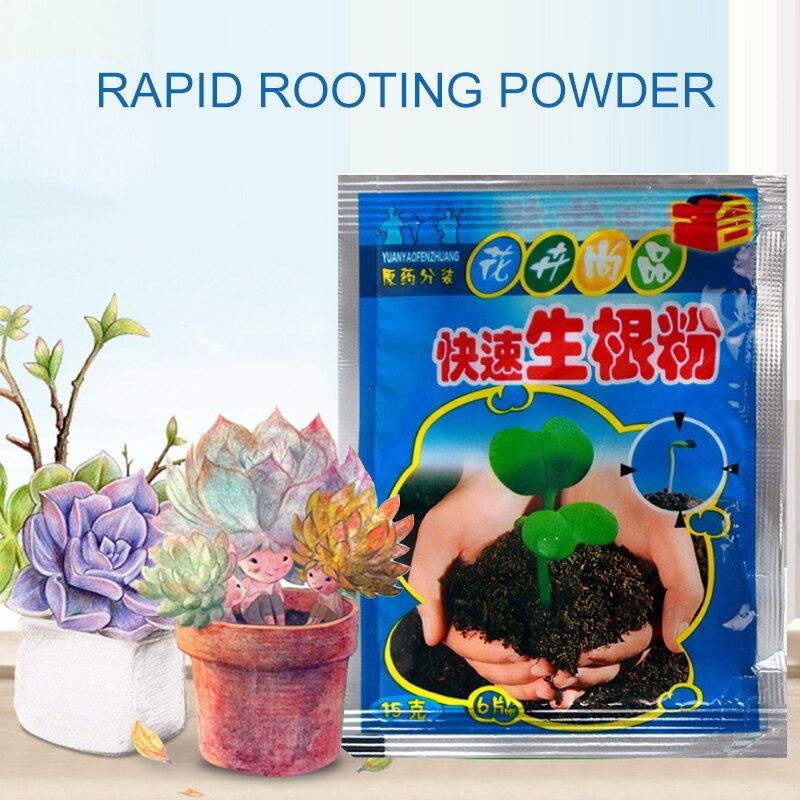 2 uds polvo rápido de enraizamiento mejorar la floración plantas de corte fertilizante mejorar la supervivencia planta alimentos suministros de jardín