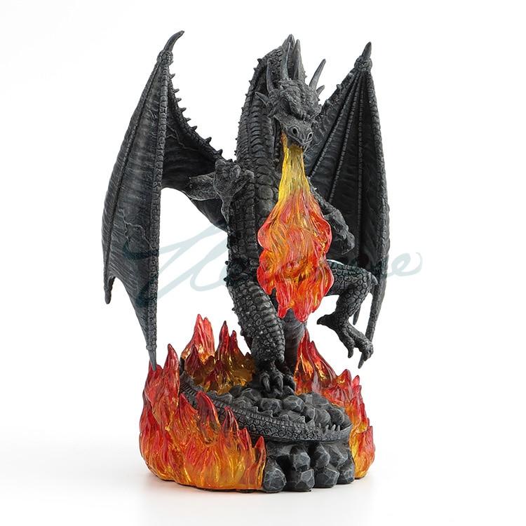 Willoni Desktop Decoration Fire Dragon Sculpture Resin Creative Gift Art Home Factory Articles Home Statue