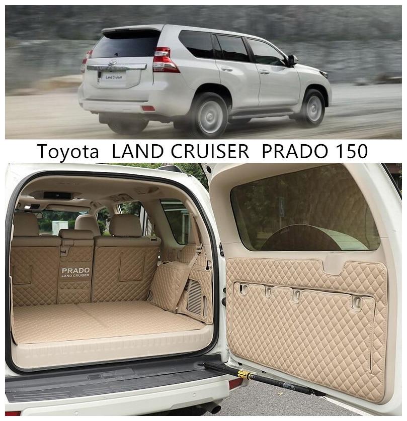 واقي أرضي لتويوتا لاند كروزر برادو 150 2010-2020 ، 5 و 7 مقاعد ، بطانة صندوق السيارة الخلفي ، سجادة البضائع ، وسادة القدم