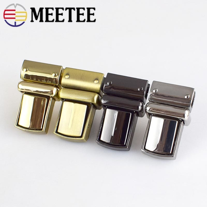 osmond alloy tone turn locks snap clasps closure buckle for bags accessories diy handbags purse alloy button replacement lock 2/5/10pcs 22x38mm Handbag Mortise Lock Bag Locks Buckle Twist Turn Lock Snaps For DIY Replacement Bags Purse Clasp Closure