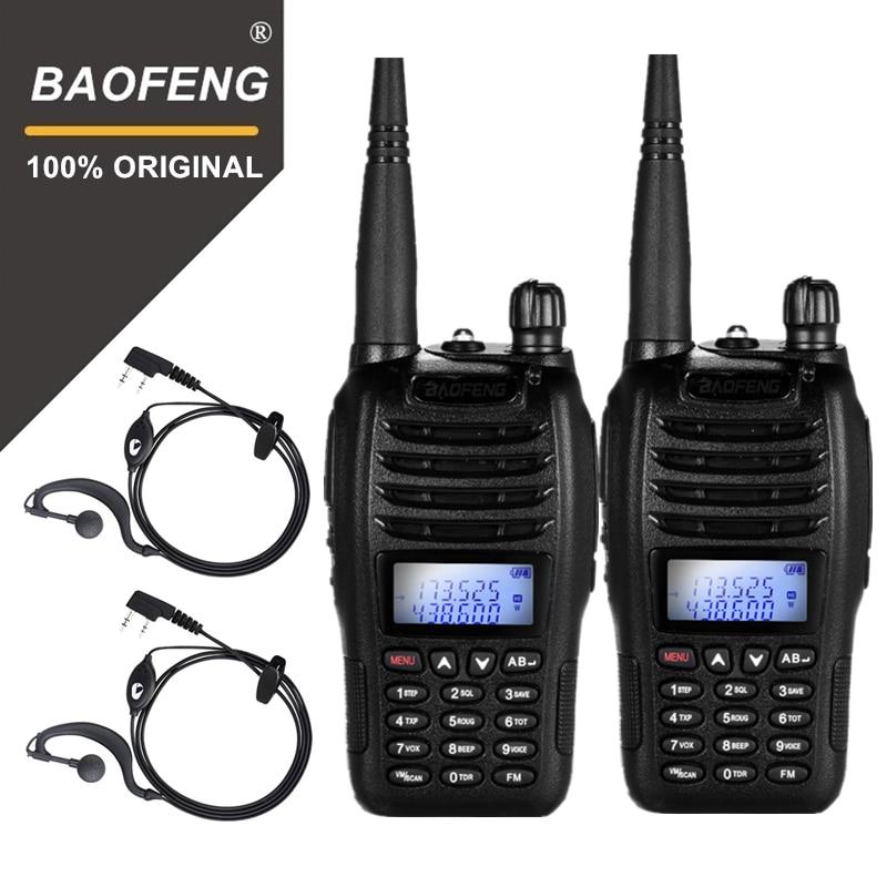 2 шт. BaoFeng BF-B6 портативная рация UV B6 двухстороннее радио двухдиапазонный УКВ/УВЧ Woki Toki 5 Вт fm-радио приемопередатчик