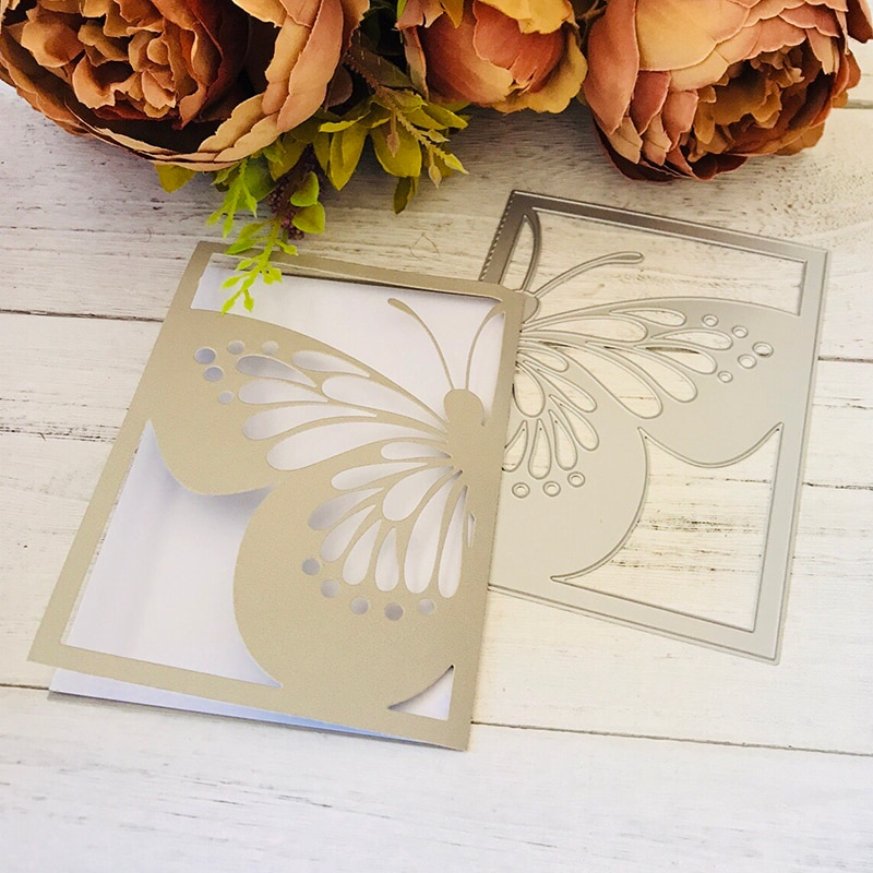 Butterfly invitation Metal Dies Scrapbooking Cutting 20208 Craft Stamps die Cut Embossing Card Making Stencil