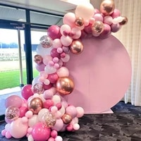 macaron pink balloon garland arch kit happy birthday party decor kids baby shower latex ballon chain wedding party supplies
