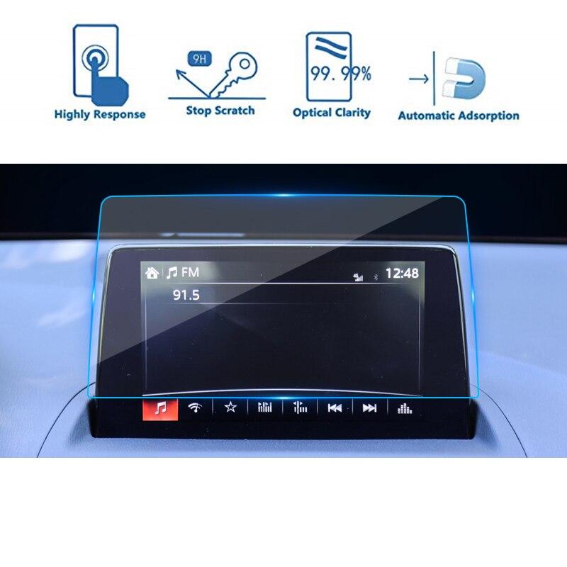 7 дюймов 8 дюймов для Mazda CX-4 2016-2019 2020 автомобильный навигатор Экран защитная пленка 9H закаленное Стекло прикосновения по центру Экран протект...