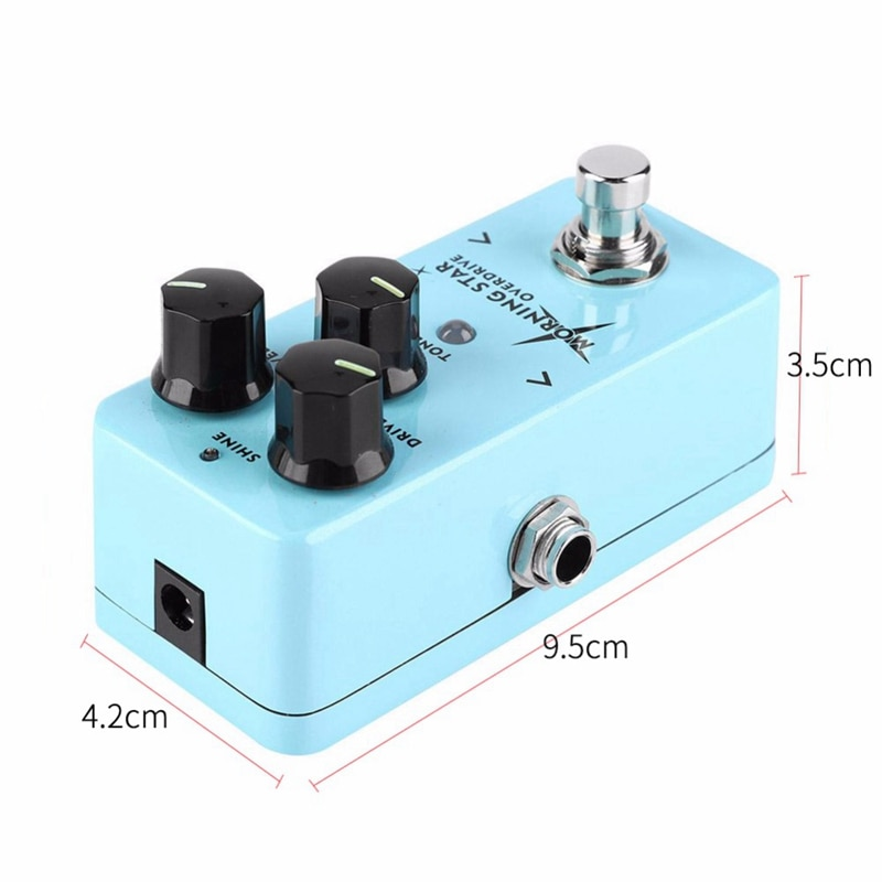 NUX Morning Guitar Overdrive Effect Pedal Blues-Break Overdrive & NUX Lacerate Mini Booster Guitar Boost Pedal enlarge