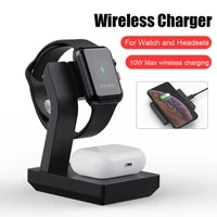 3 in1 fast wireless charger phone stand removable 10w for iphone huawei samsung magnatic charging stand for watch headset