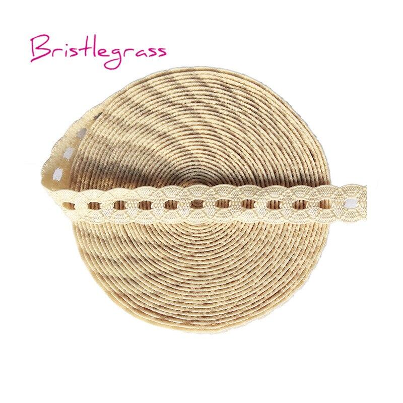 "BRISTLEGRASS 5 Yard 1/2"" Nude Color Chain Spandex Lace Trim Elastic Bands Kid Hairband Headband Tie Tutu Dress DIY Sewing Crafts"