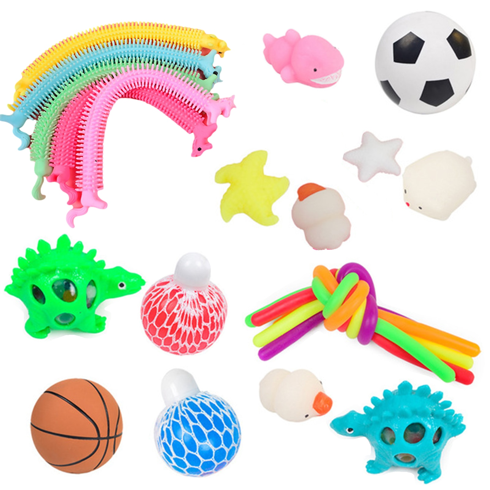 22PCS Pack Fidget Sensory Toy Set Stress Relief Toys Autism Anxiety Relief Stress Pop Bubble Fidget Toys For Kids Adults New enlarge