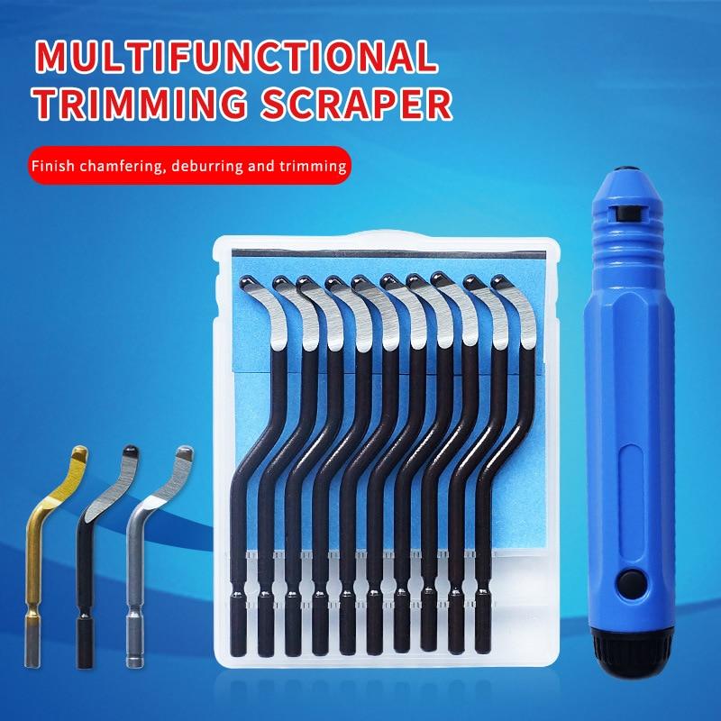 Нержавеющаясталь скребок для снятия заусенцев BS1018 ручной триммер для 1010 инструмент BK3010 Пластик ракельный нож