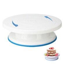 Yolife 10 pulgadas mesa rotativa de plástico para tartas herramienta de repostería herramienta para hornear soporte de torta giratoria para decoración de tartas herramienta para hornear