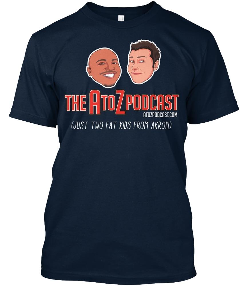 Camiseta con logo de AtoZ Podcast para hombre
