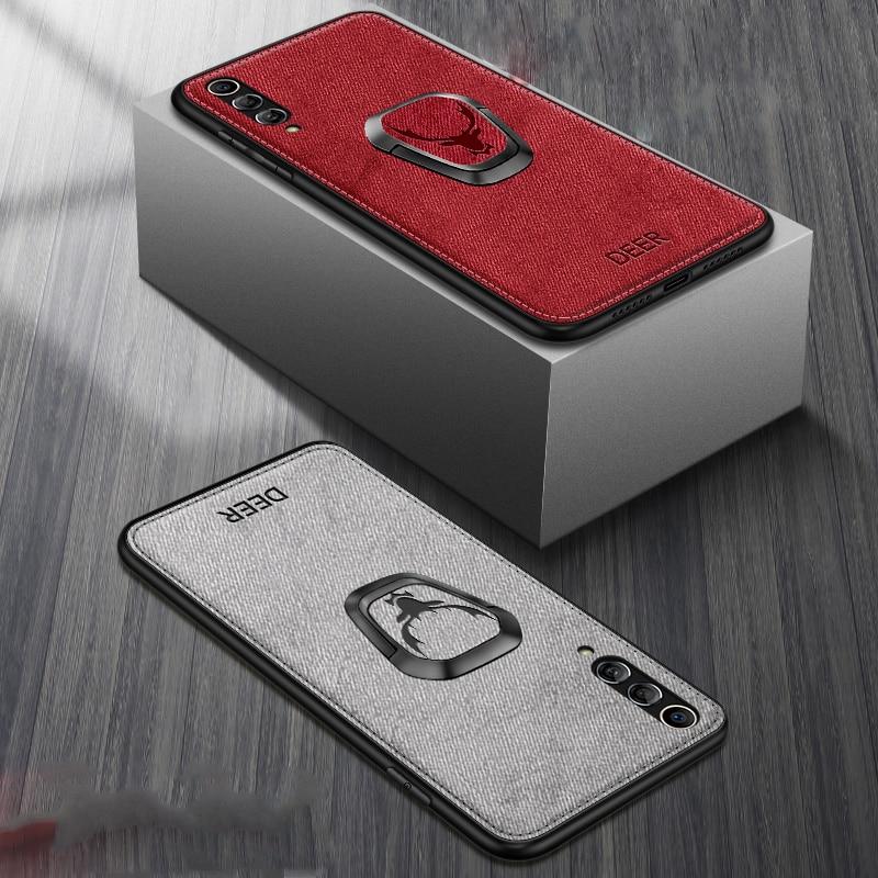 Для Samsung Galaxy S20 Ultra Note 10 5G S10 Plus S9 S8 A20 A30 A50 A70 A80 A90 A51 A71 магнитный держатель Чехол тканевый кронштейн