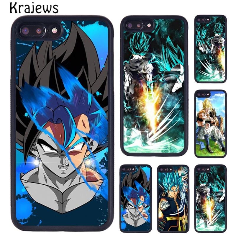 Krajews Dragon Ball Z Super Vegito Blue Cover Phone Case For iPhone 5 6S 7 8 Plus 11 Pro X XR XS Max Samsung Galaxy S7 S8 S9 S10