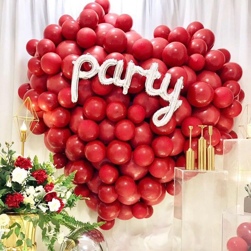 """Globos de cola de aguja para boda de 6 """"10"""" y 12 """", globo decorativo de látex con forma de corazón, globo de feliz cumpleaños, globo de adorno de fiesta"""