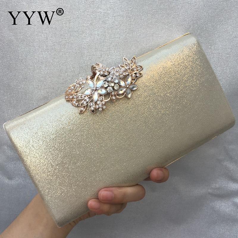 حقيبة يد نسائية مطرزة ، حقيبة يد للسهرات ، حزام كتف ذهبي ، للزفاف