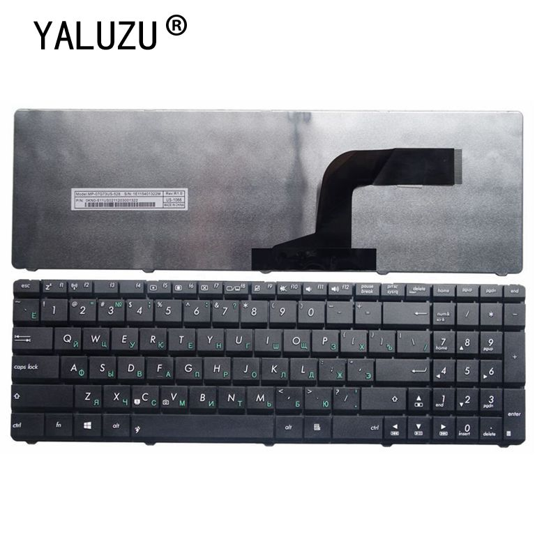 YALUZU Русская клавиатура для ноутбука ASUS X55A X52F X52D X52DR X52DY X52J X52JB X52JR X55C X55U K73B NJ2 RU Черная Новинка