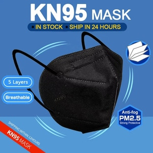 10/100pcs KN95 Masks Adult 5 Layer Filter Respirator Mouth Cap Dustproof KN95MASK Protective Mascarilla Breathable n95 Face Mask