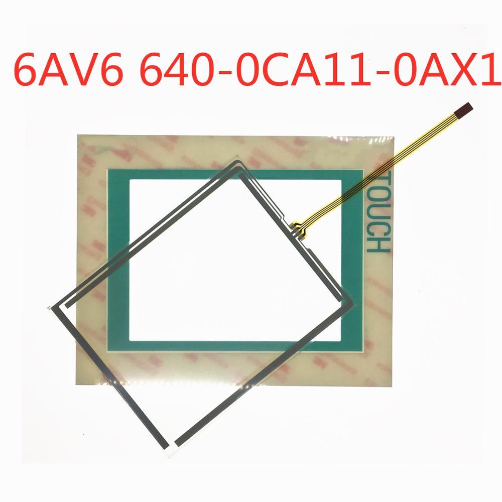 Digitalizador de pantalla táctil para 6AV6 ttp177 Panel táctil de vidrio para 6AV6640-0CA11-0AX1 TP177 con recubrimiento (película protectora)