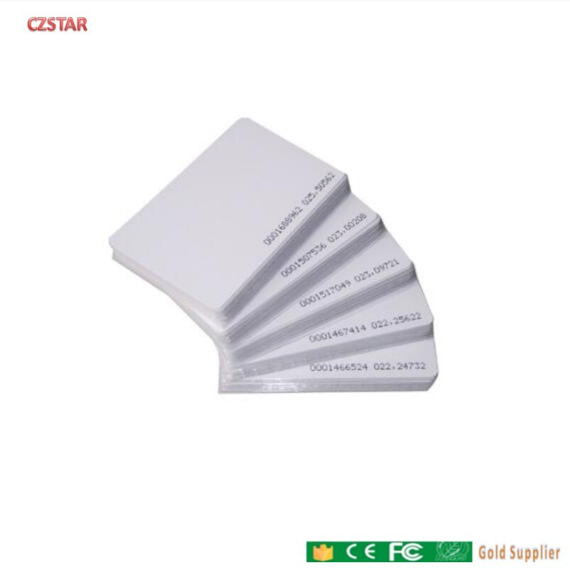 Free shipping 100pcs/ RFID Smart Card ID Keyfobs 125KHz TK4100 ID Card Access Control System Time Attendance card tag