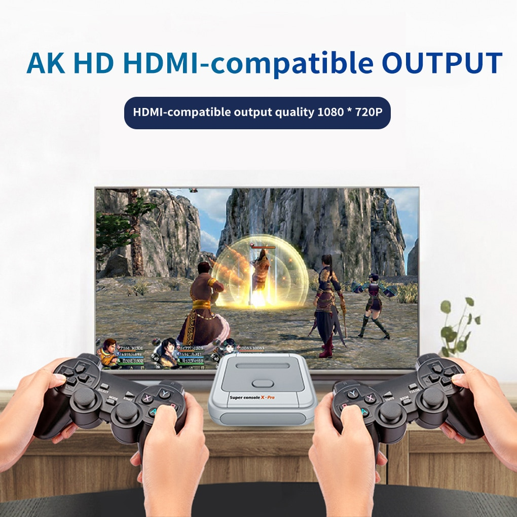 Super Console X-pro HD 4K TV Video Game For PS1/N64/SFC 50+ Emulators 50000+ Games 256GB S905X CPU Game Player enlarge
