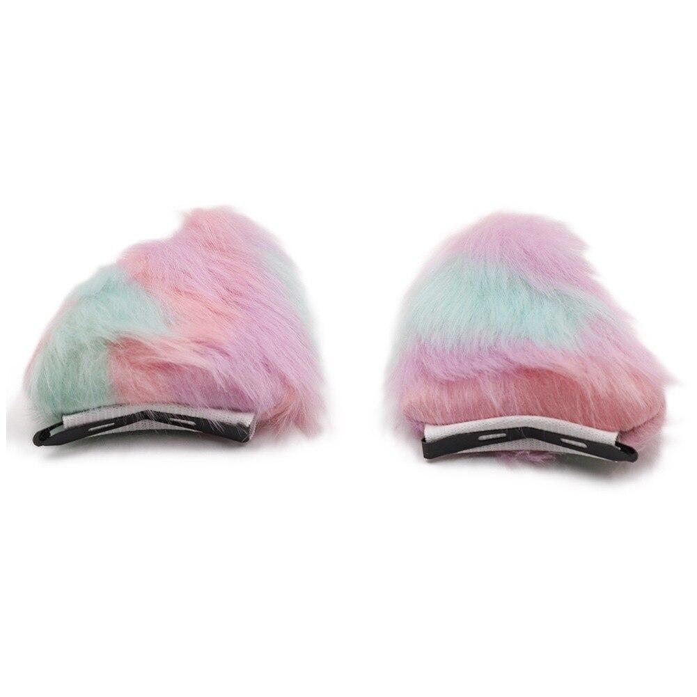 Gato raposa orelhas hairpin feminino meninas moda plush hairclip adorável presente animal cosplay purim festa headwear acessórios para o cabelo
