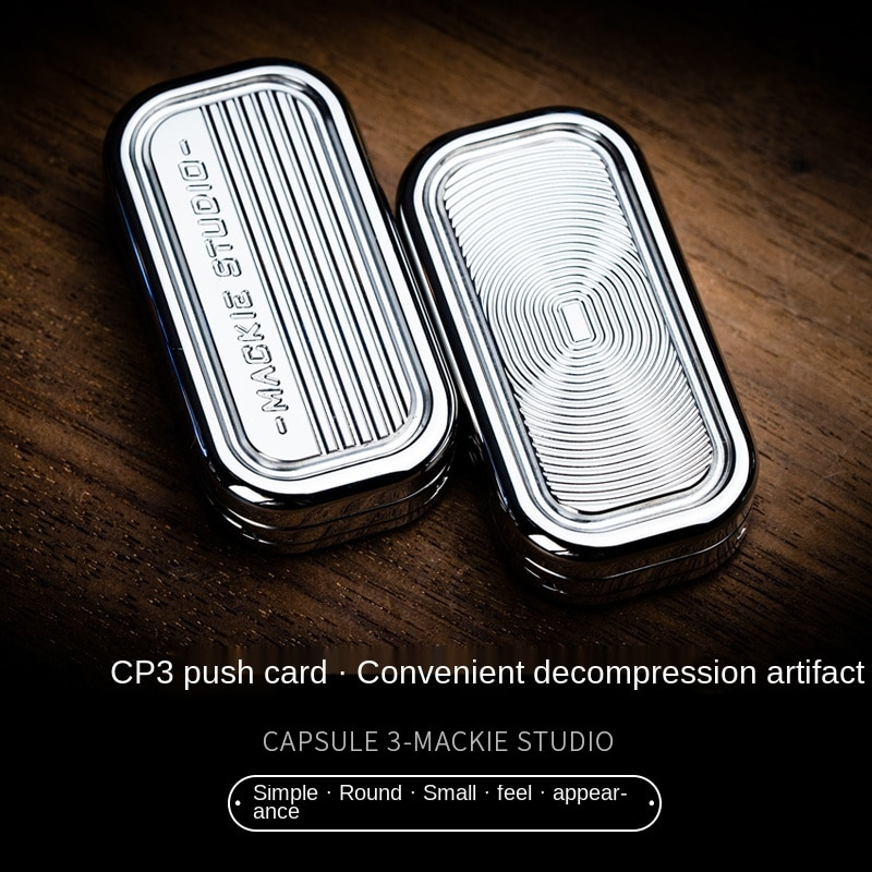 New CP3 Push Card Pop Coin Adult Finger Tide Play EDC Ring Coin Decompression Toy Magnetic Force