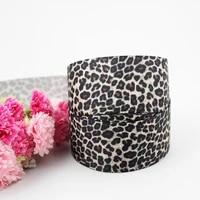 leopard black printed grosgrain ribbon blue ribbon diy hair bow sewing supplies 16mm 22mm 25mm 38mm 57mm 75mm