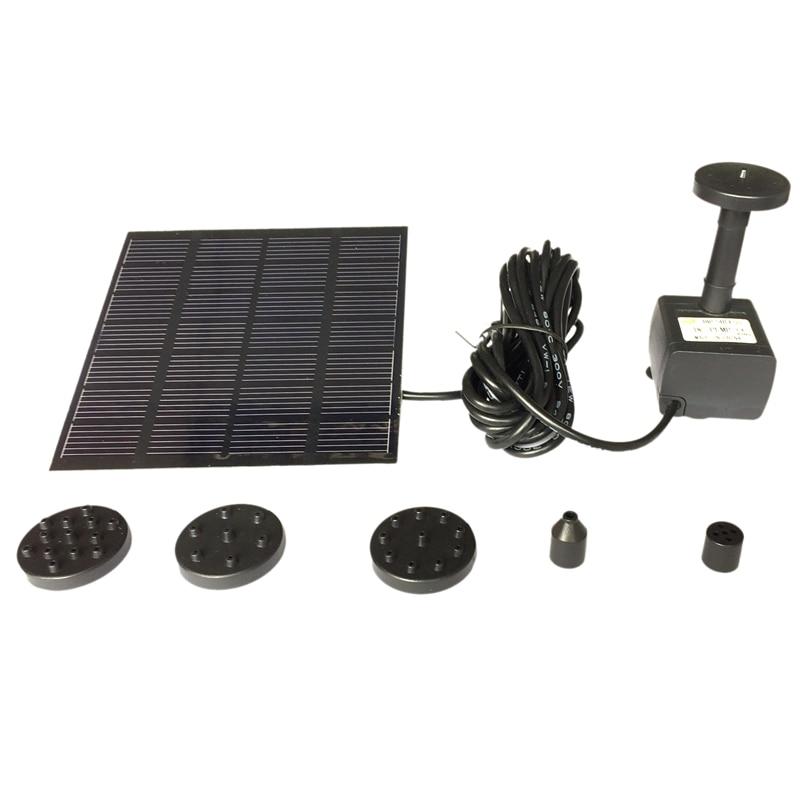 Fuente Solar bomba de agua Panel jardín estanque piscina sumergible Kit de riego