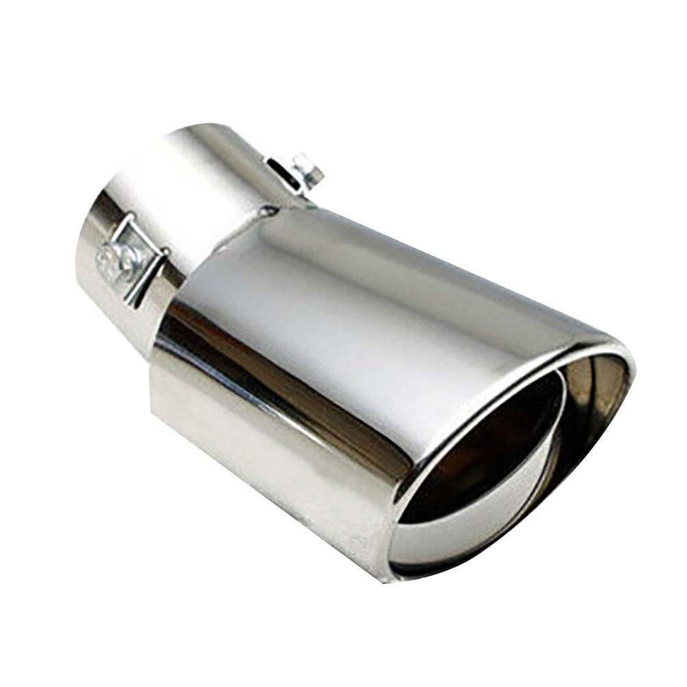 Купить с кэшбэком Universal Car Vehicle Stainless Steel Tail Throat Exhaust System Muffler Pipe