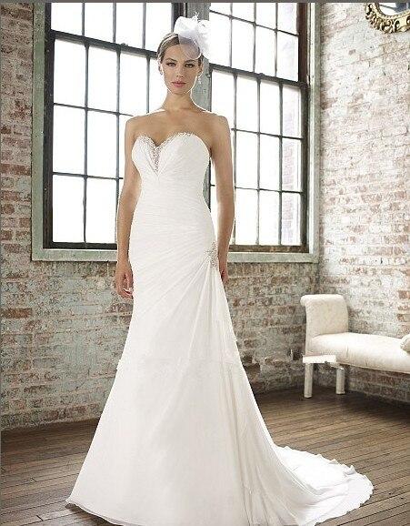 wesele vestido de noiva bandage decoration 2021 white mermaid sweetheart lace up beading bridal gown Bespoke Wedding Dresses