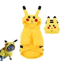 cute cosplay cat costume pet dog clothes for puppy cartoon kitten hoodies cat pajamas winter cats dog coat hoodie disfraz gato