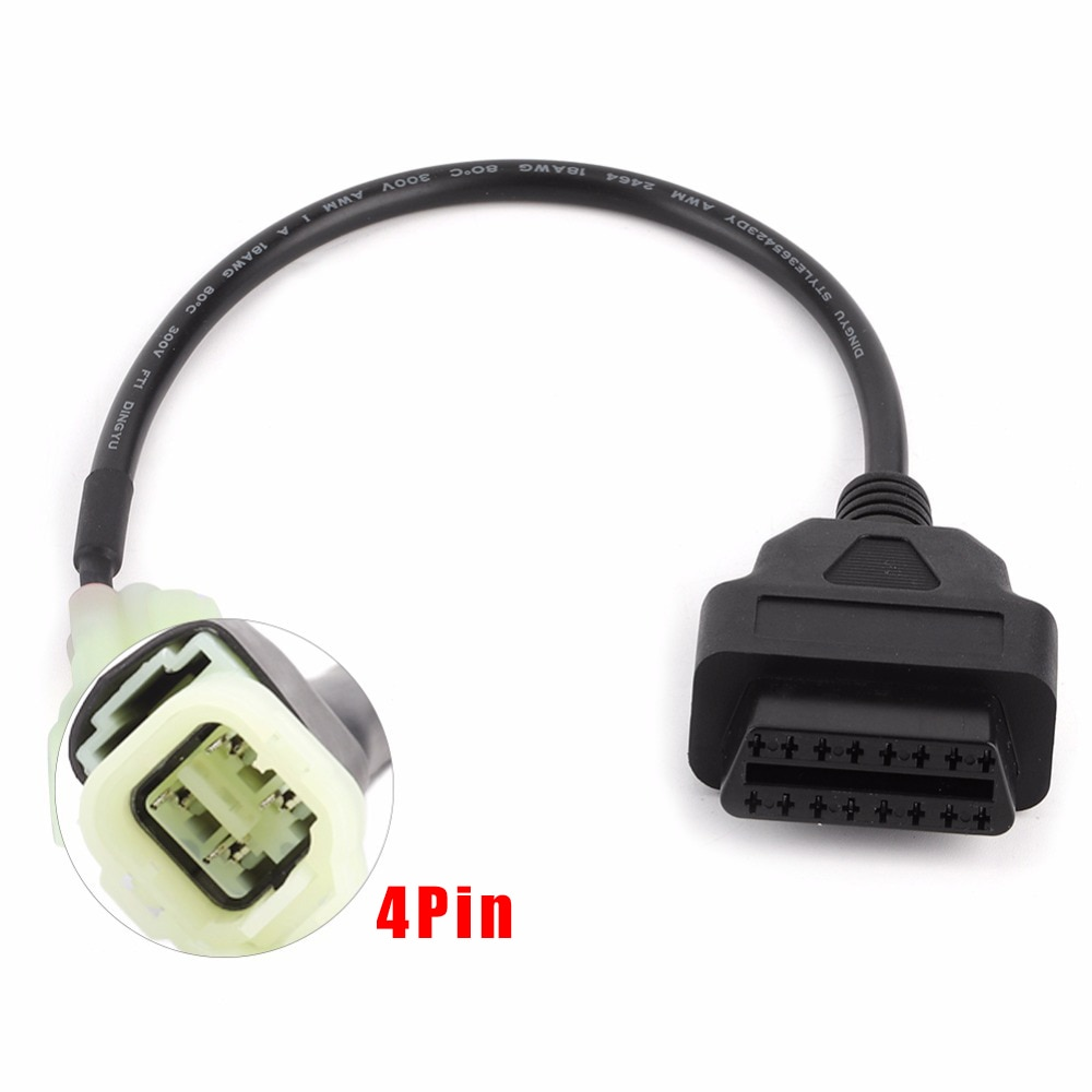 Motorcycle ATV Motorbike 4 Pin OBD2 Diagnostic Code Reader Cable Motorcycle Scanner Diagnostic Cable Tool Fit For Honda nicecnc atv clutch alignment tool for polaris sportsman 570 ranger diesel xp rzr 4 s 900 1000 turbo cnc aluminum