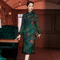 he new coltsfoot chinese wind restoring ancient ways to spend 2020 watered gauze quilted long traditional qipao dress