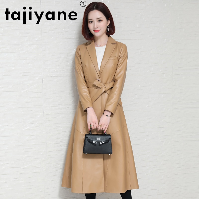 Tajiyane Genuine Leather Jacket Women Real Sheepskin Coat Autumn Winter Long Slim Outerwear for Wome