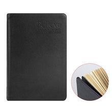 240 feuille Vintage Bible Style or bord blanc épais cahier de papier avec couverture en Faux cuir pour voyage voyage à domicile fournitures de bureau